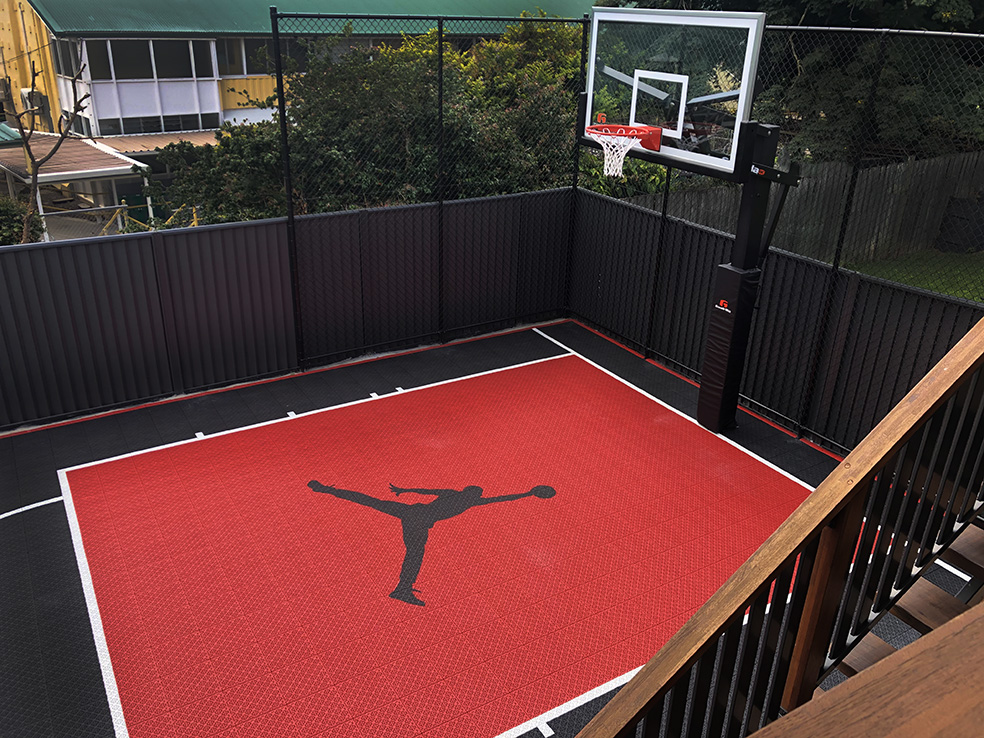 red and black basketball court in Brisbane